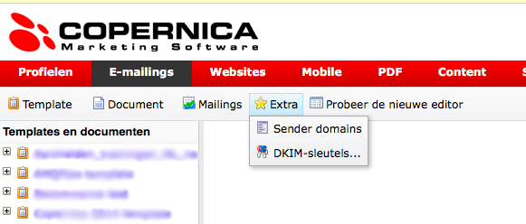 Sender Domains button in Publisher