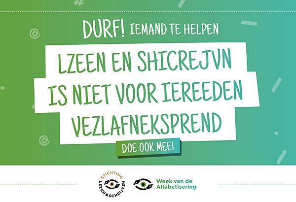 Week van de Alfabetisering-banner